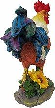 Baoblaze Statua da Giardino del Gallo Statuetta di