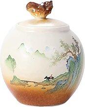 Barattolo da tè in ceramica vintage per