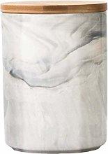Barattolo in ceramica bianca per alimenti, con
