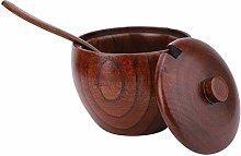 Barattolo per spezie in legno, vaso per condimento