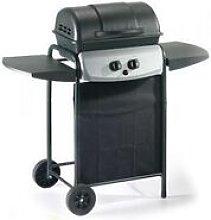 Barbecue a gas con pietra lavica griglia ecolava