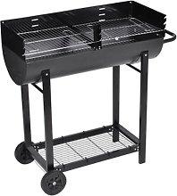Barbecue braciere con griglia a legna e carbone -