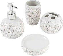 Baroni Home - Set 4 Pezzi in Ceramica da Bagno
