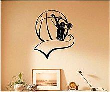 Basket Girl Boy Decorazione Murale Poster Per