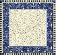 Bassetti OPLONTIS Tovaglia Cotone, Blu, 170 x 170
