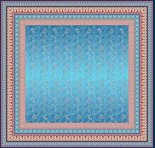 Bassetti Tovaglia in cotone, blu, 170 x 170 cm