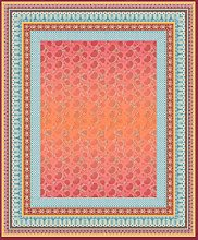 Bassetti Tovaglia in cotone, colore rosso, 140 x