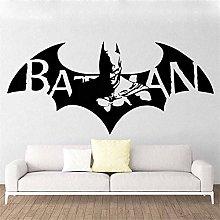 Batman hero adesivo da parete in vinile cartoon