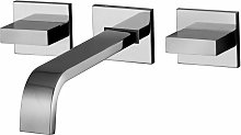 Batteria lavabo 3 fori a parete Paffoni Level