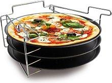 Baumalu 3776 Teglia per Pizza con Supporto,