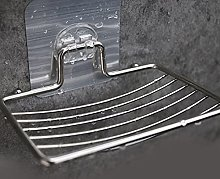 BAWAQAF - Portasapone in acciaio inox, con scarico