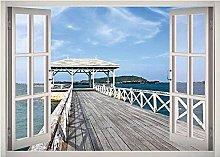 Bay Shore Road Bridge Window 3D Decalcomania della