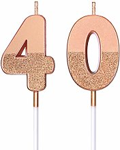 BBTO Candele di Compleanno 40 Glitter Candele di