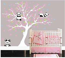 BDECOLL Cherry Blossom Decalcomanie da Muro Panda