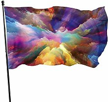 BDGHTDARED - Bandiera colorata per giardino, 9 x