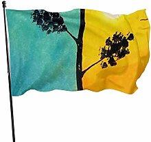 BDGHTDARED - Bandiera da giardino con albero della