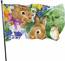 BDGHTDARED - Bandiera da giardino con ciambelle, 7