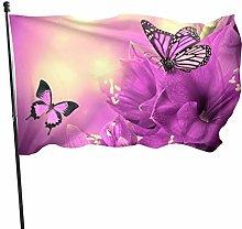 BDGHTDARED - Bandiera da giardino con farfalle e