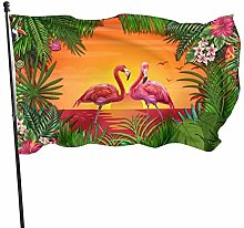 BDGHTDARED - Bandiera da giardino con fenicotteri,