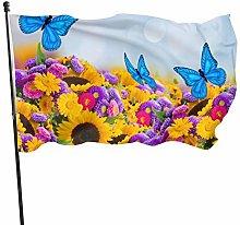 BDGHTDARED - Bandiera da giardino con girasole