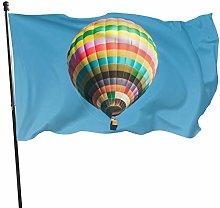 BDGHTDARED Bandiera da giardino con mongolfiera, 7