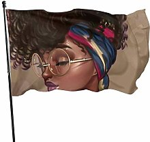 BDGHTDARED Bandiera da giardino con occhiali da
