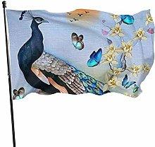 BDGHTDARED - Bandiera da giardino con pavone e