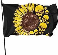 BDGHTDARED - Bandiera da giardino con teschio di