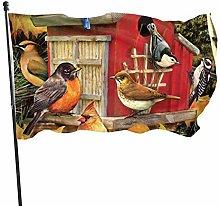 BDGHTDARED - Bandiera da giardino con uccelli