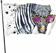 BDGHTDARED - Bandiera da giardino con zebrata in