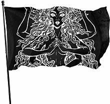 BDGHTDARED - Bandiera da giardino per yoga, stile