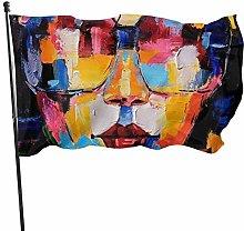 BDGHTDARED - Occhiali da sole con bandiera da