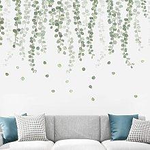 Bearsu - 2 pezzi adesivi murali, eucalipto foglie