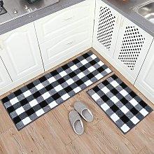 Bearsu - Set di tappeti scozzesi assorbenti