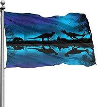 Beautiful Landscape Nature Dinosaurs Silhouette