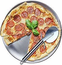 BeGrit - Teglia per pizza in acciaio inox 304,