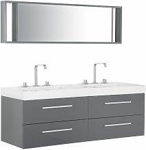 Beliani - Arredo bagno in colore grigio MALAGA