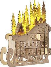 Beliani - Calendario avvento in legno chiaro con
