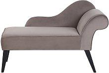 Beliani - Chaise longue velluto lato destro