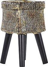 Beliani - Fioriera 22 x 36 cm oro LIMANI