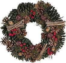 Beliani - Ghirlanda natalizia verde ⌀ 35 cm