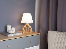 Beliani - Lampada da tavolo bianca AGUEDA