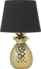 Beliani - Lampada da tavolo color oro PINEAPPLE