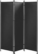 Beliani - Paravento a 3 pannelli 160 x 170 cm nero
