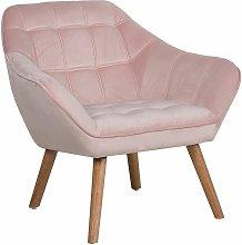 Beliani - Poltrona in velluto rosa KARIS