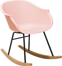 Beliani - Sedia a dondolo in plastica rosa HARMONY