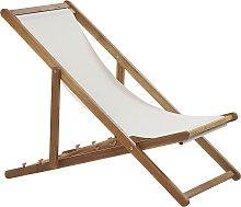 Beliani - Sedia a sdraio in legno acacia chiaro