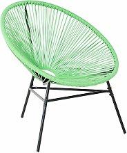 Beliani - Sedia moderna verde stile spaghetti