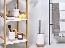 Beliani - Set 4 accessori da bagno color bianco