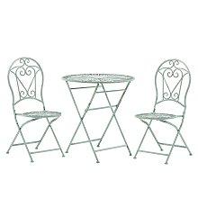 Beliani - Set da balcone con 2 sedie ed un tavolo